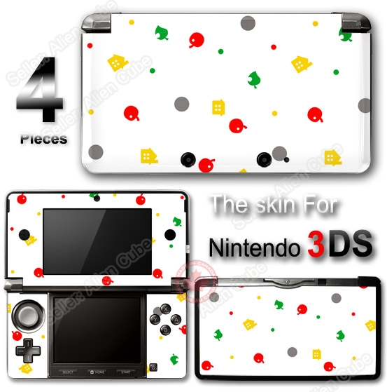 animal crossing new leaf cute skin vinyl sticker decal cover 1 for nintendo 3ds. Black Bedroom Furniture Sets. Home Design Ideas