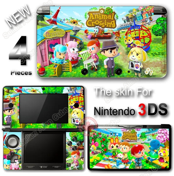 animal crossing new leaf cute skin vinyl sticker decal cover 2 for nintendo 3ds ebay. Black Bedroom Furniture Sets. Home Design Ideas