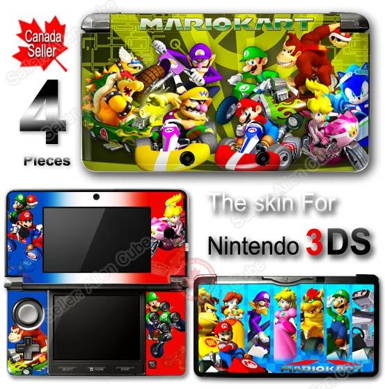 Super Mario Kart SKIN VINYL STICKER COVER #1 for 3DS on