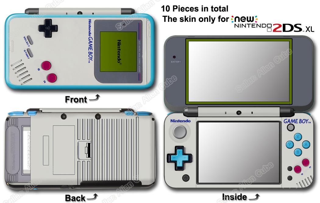 Original Game Boy Classic Edition Skin Sticker Cover 2 For New Nintendo 2ds Xl Ebay