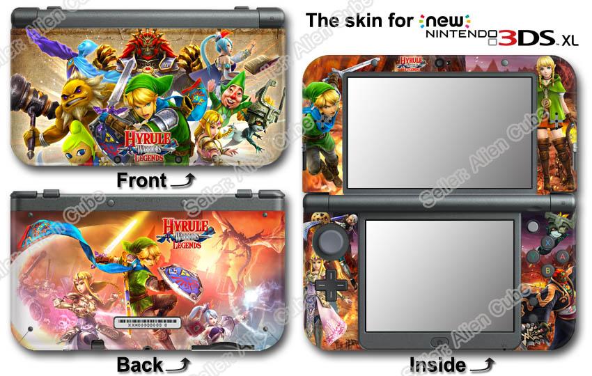 Legend Of Zelda Hyrule Warriors Legends Cool Skin Sticker Cover For New 3ds Xl Ebay